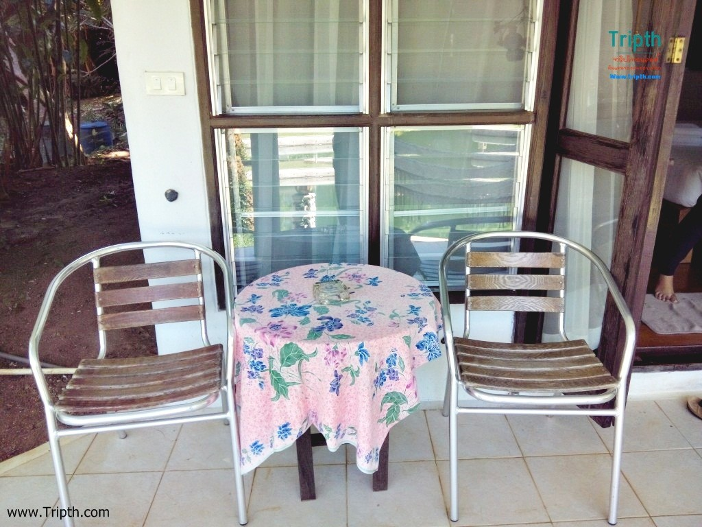 มีเก้ากับโต๊ะนั่งจิบกาแฟยามเช้า