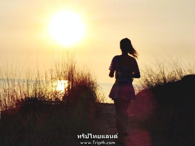 พระอาทิตย์ตก เกาะสีชัง
