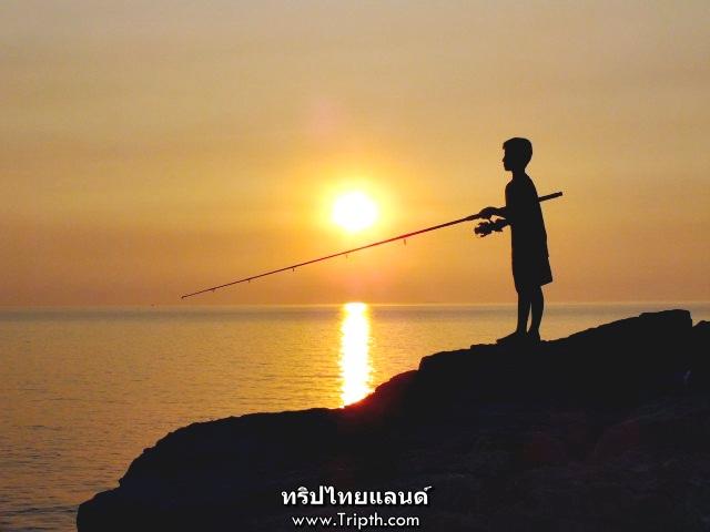 พระอาทิตย์ตก ช่องเขาขาด เกาะสีชัง